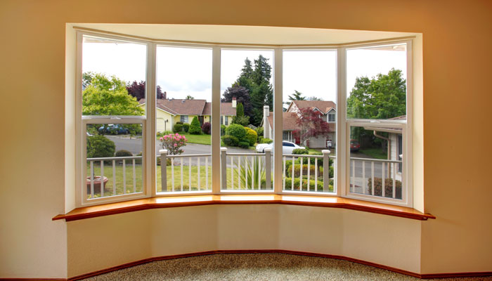 Bay window at property in Wrexham