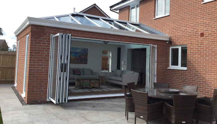 Bi-folding doors on conservatory at Chester property