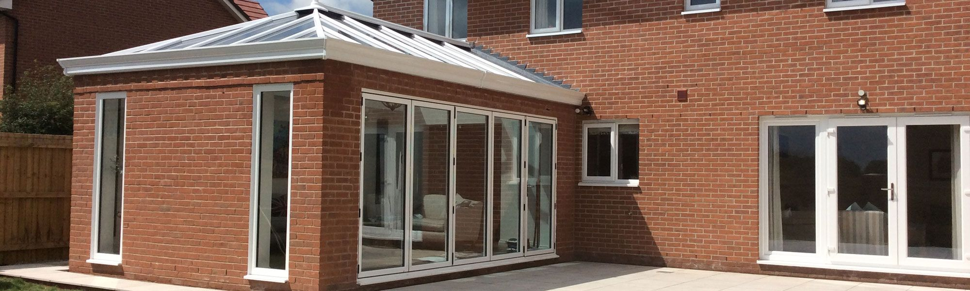 Modern conservatory fitted at house in Wrexham, North Wales