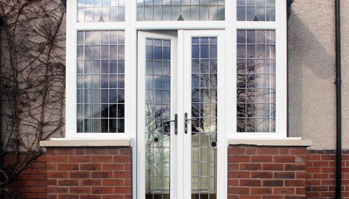 French doors at Wrexham house